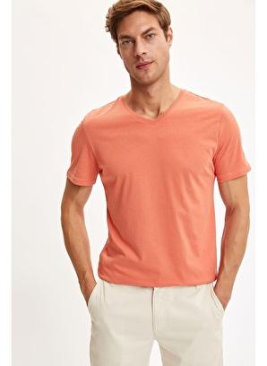 DeFacto V Yaka Slim Fit Basic Pamuklu Tişört